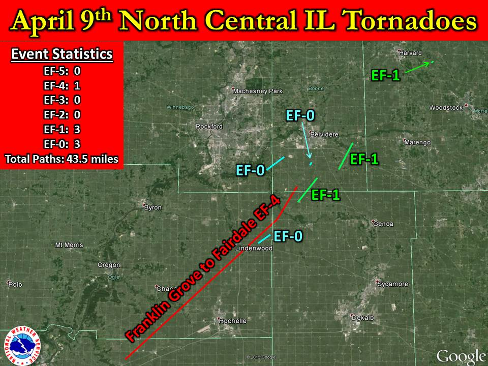 April 9 2015 Tornado Event Including Rochelle Fairdale Ef 4 Tornado
