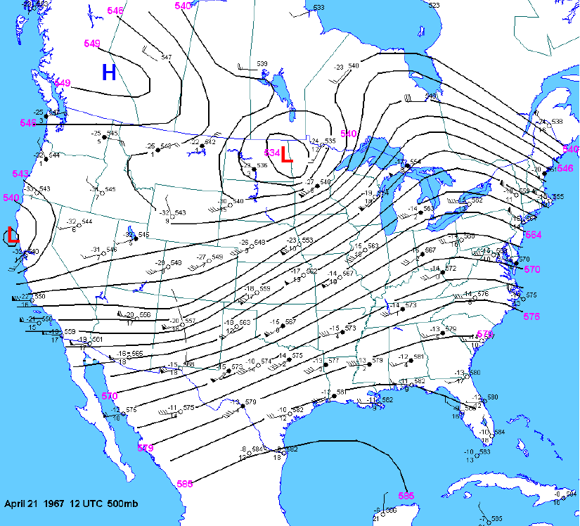 500 mb map at 12z