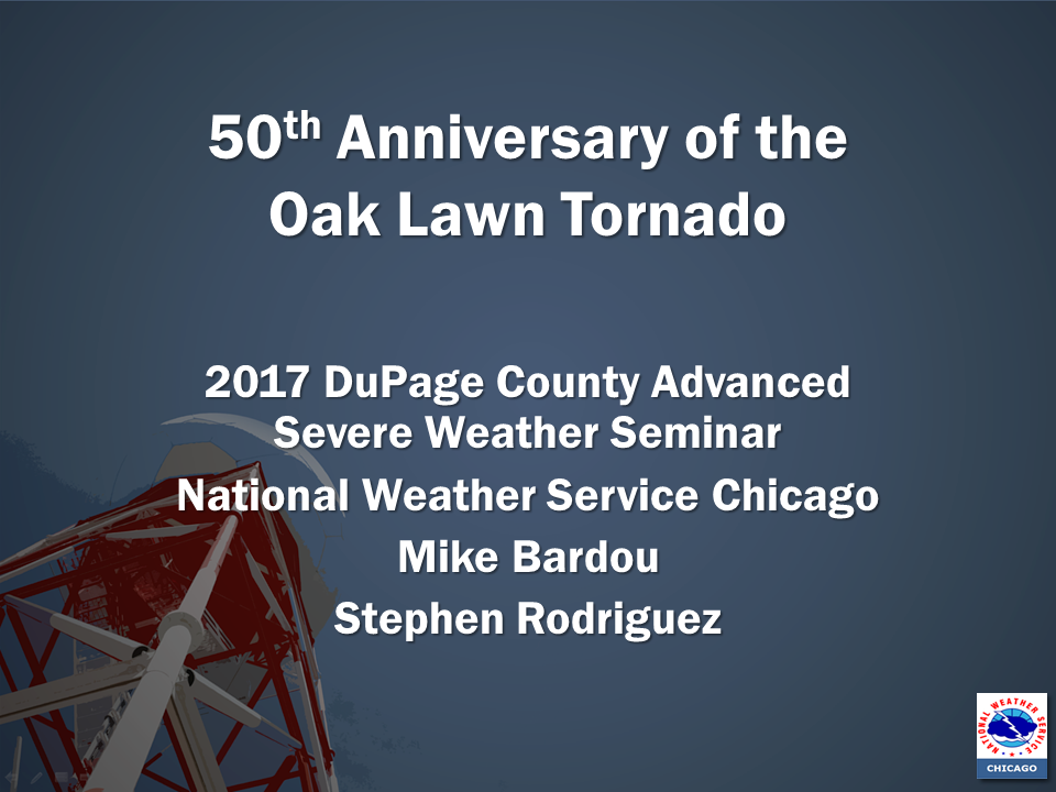 50th Anniversary of the Oak Lawn tornado