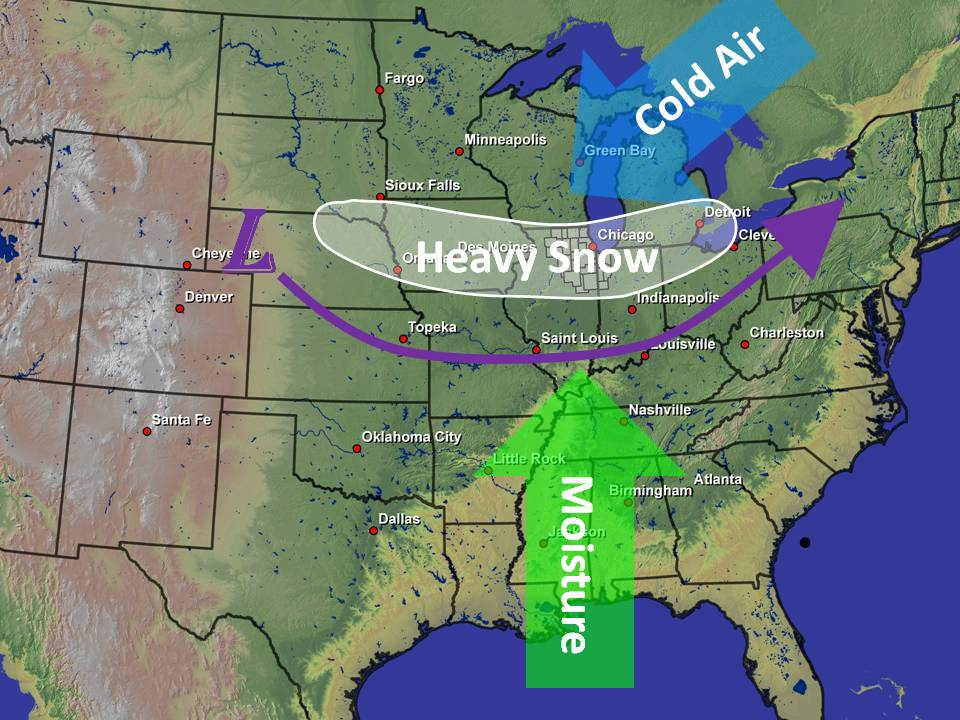 high plains chicago snowstorm track