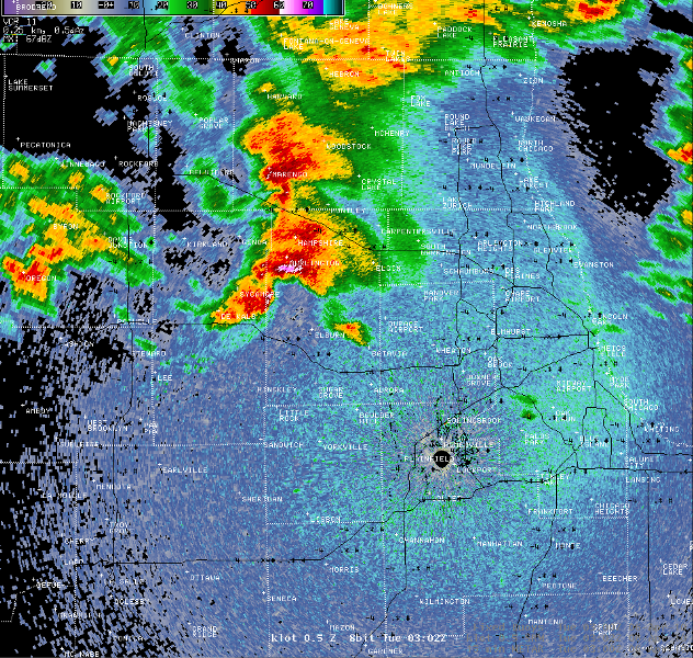 Supercell over Kane County