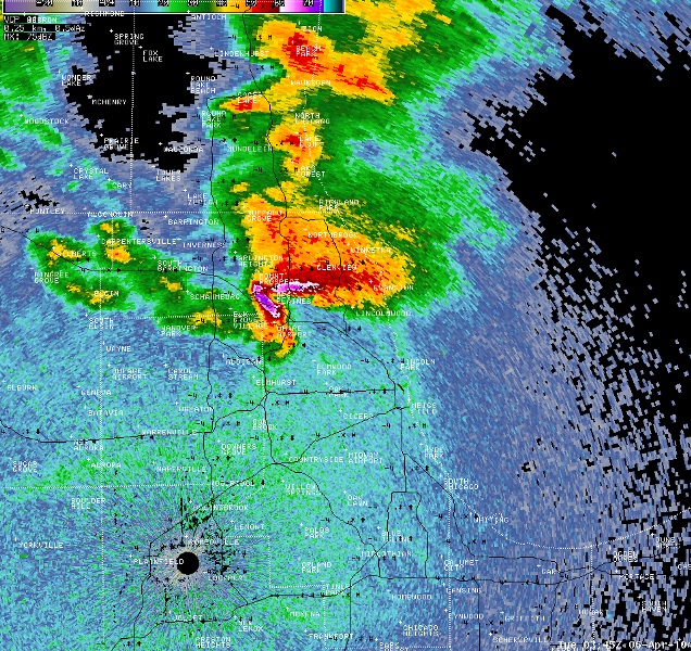 supercell near O'Hare