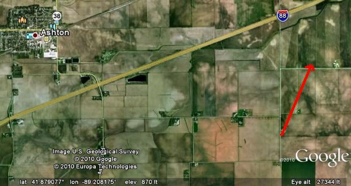 Lee County EF1 Path