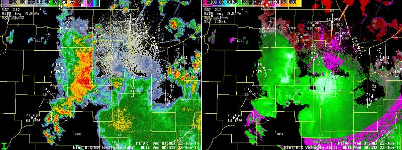 Radar at 0043z.