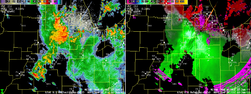 Severe thunderstorms moving into southwest Chicago suburbs at 0111z.