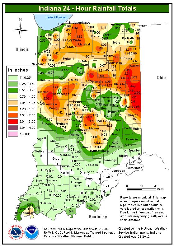 Indiana Rainfall