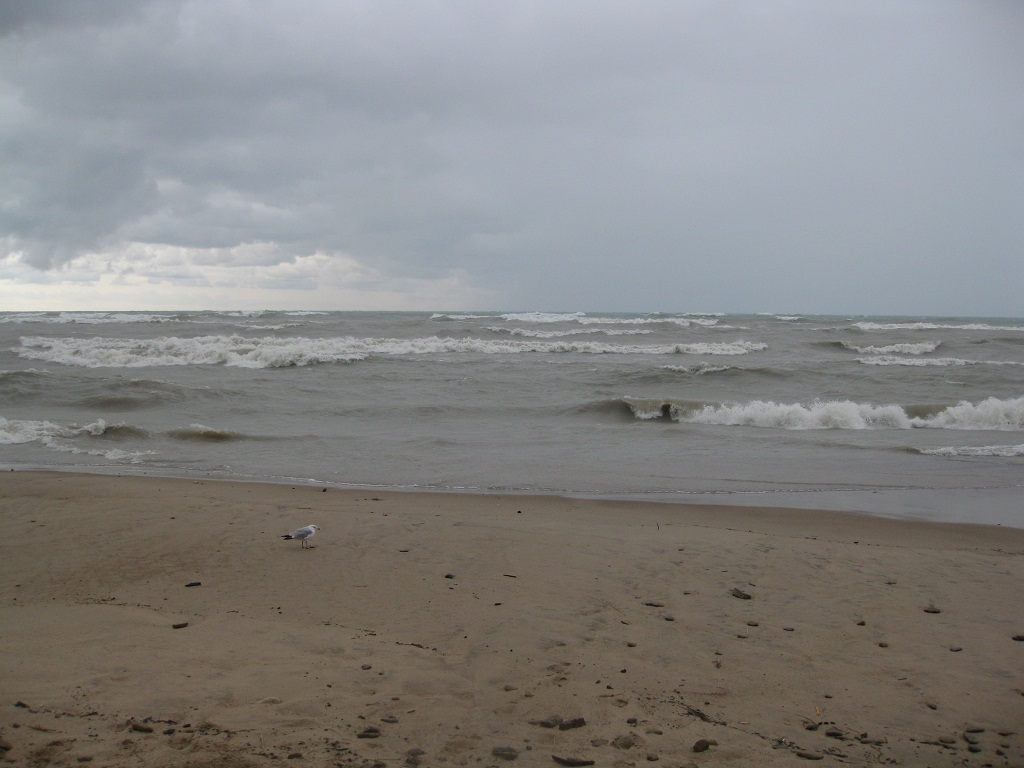 Large Waves at Beverly Shores, IN Friday 8/10/12