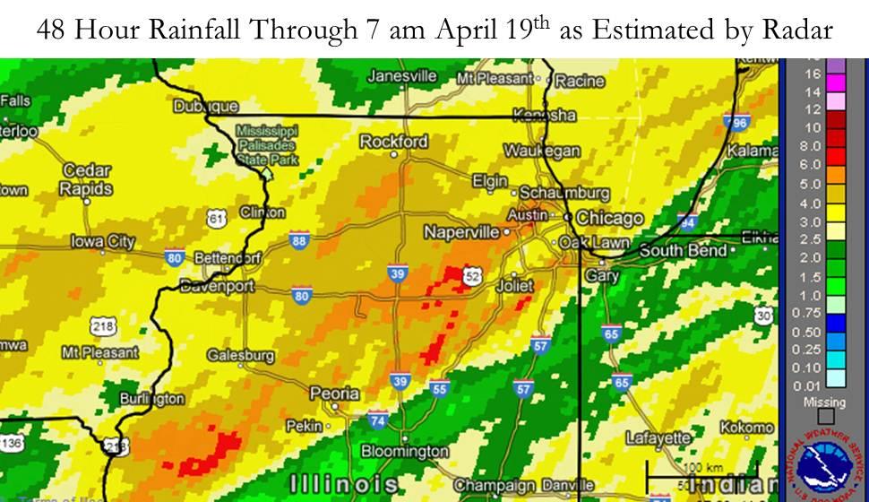 Radar Estimated Rainfall