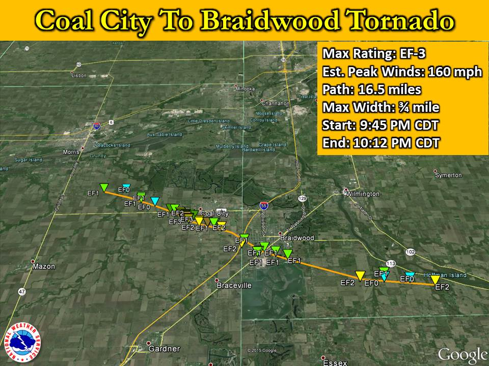 Coal City to Braidwood Tornado