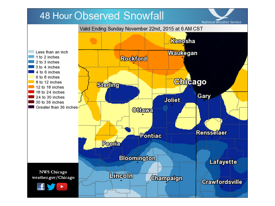 Observed Snowfall Map