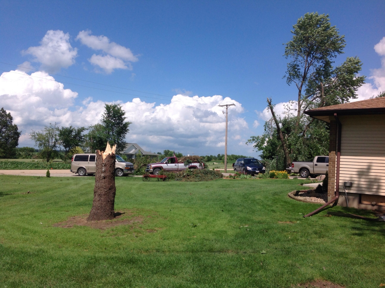 Tree damage 1 mile ENE Earlville