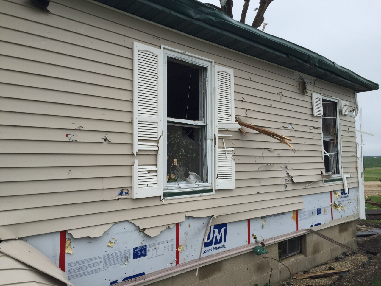 Picture of damage in siding