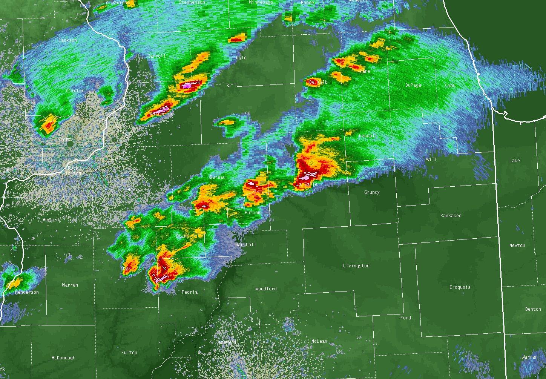 Radar Still Image of Storms During Ottawa Tornado