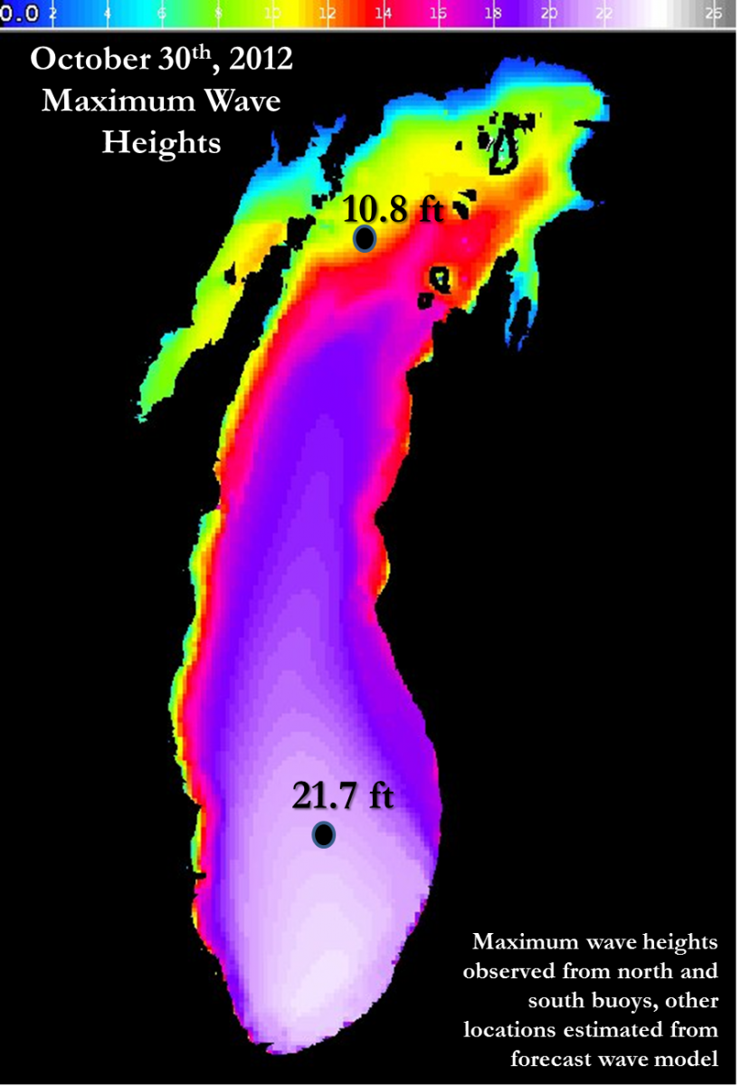 Maximum Wave Heights Observed & Estimated