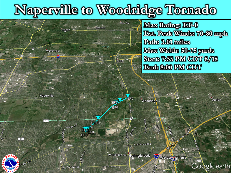 Southeast Naperville to Woodridge EF-0 Tornado