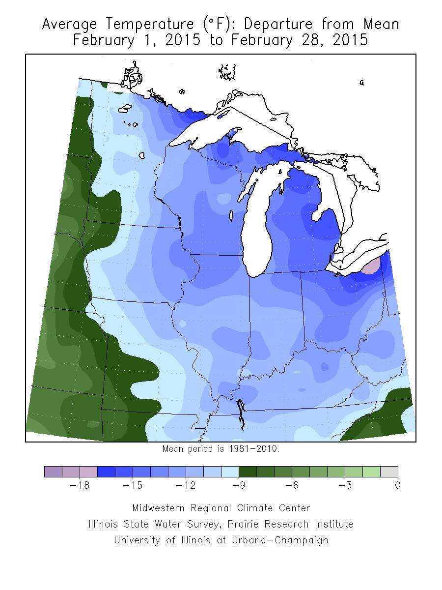 Temperature Departure