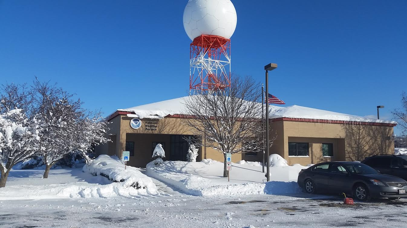 Deep Snow Cover at NWS Chicago on 2/2/15